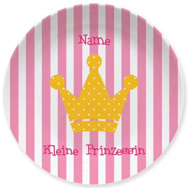 Großer Teller Kleine Prinzessin mit Namen personalisiert