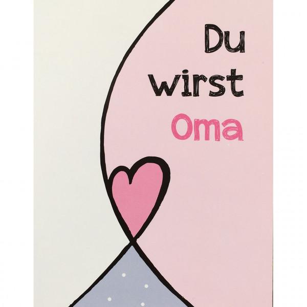 "Postkarte ""Du wirst Oma"""