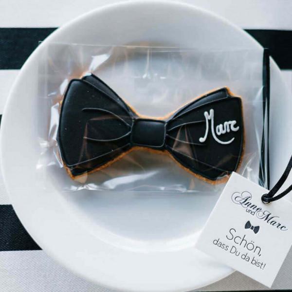 Gastgeschenk zur Hochzeit Black Tie