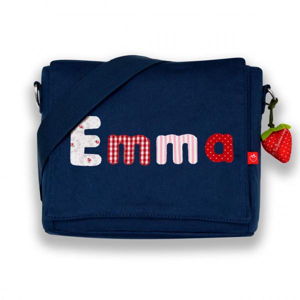 Kindergartentasche blau mit Buchstaben Emma
