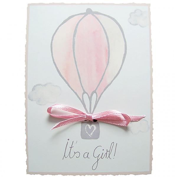 "Postkarte ""It´s a Girl"""