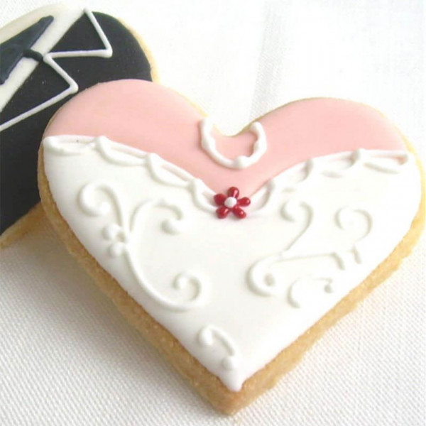 Gastgeschenk zur Hochzeit Herz-Corsage