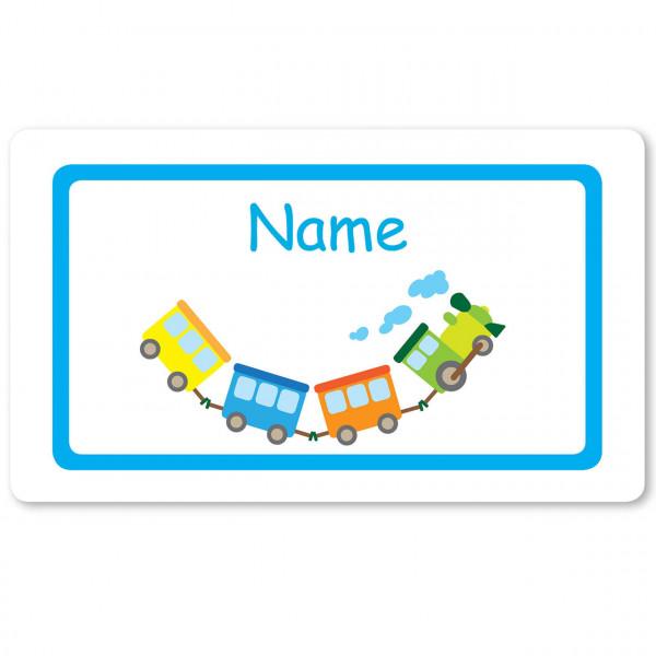 Brettchen Eisenbahn und mit Namen personalisiert