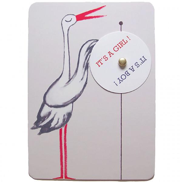 """Postkarte """"Drehscheibe Storch"""""""