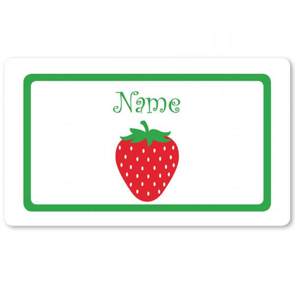 Brettchen Erdbeere und mit Namen personalisiert