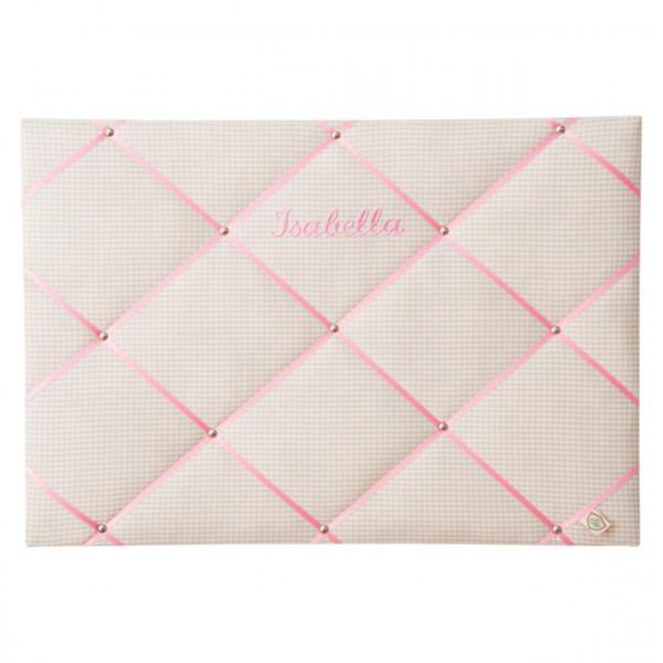 Memoboard beige-pink personalisiert