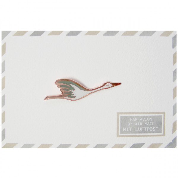 "Postkarte ""Storch-Pin"""