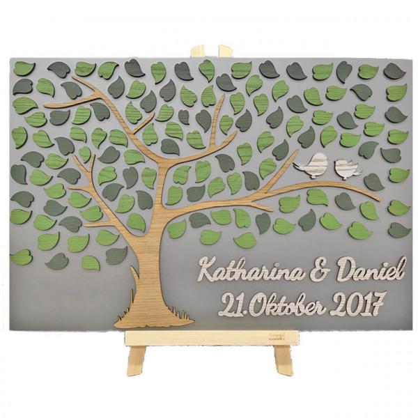 3D Baum aus Holz zur Hochzeit personalisiert