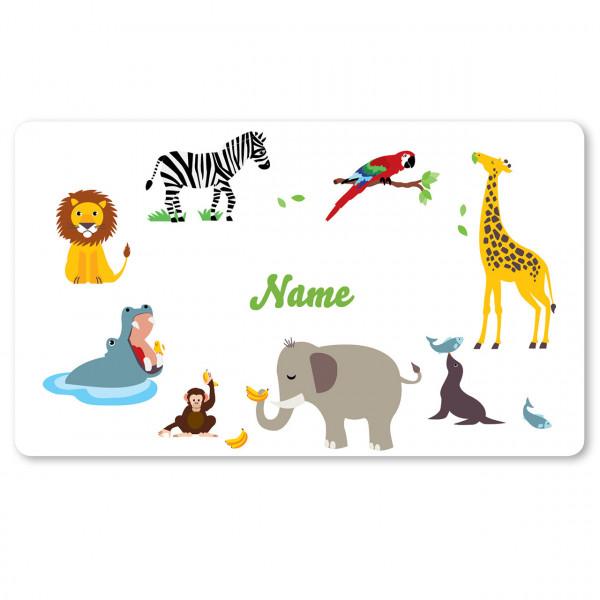 Brettchen Zoo mit Namen personalisiert