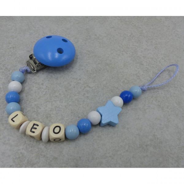 Schnullerkette Stern blau