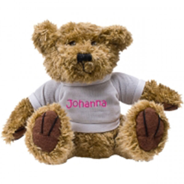 Teddybär mit T-Shirt und Namen drauf