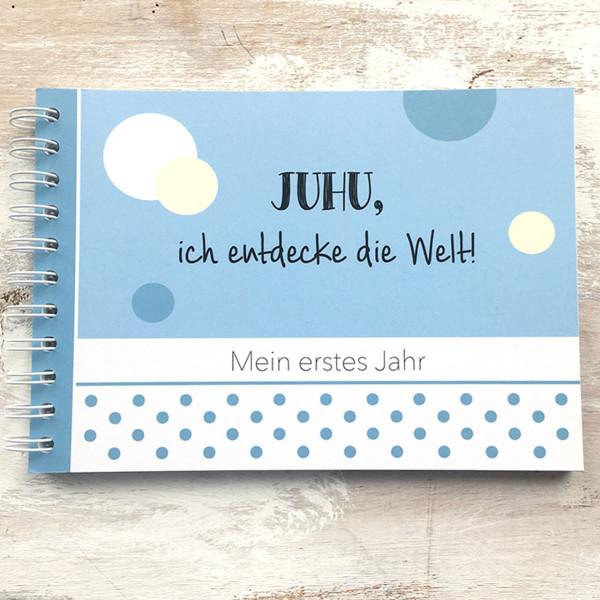 """Baby Erinnerungsbuch """"Mein erstes Jahr"""" blau"""